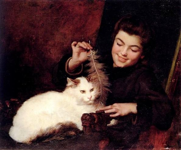 Cat with Lady
